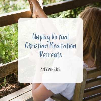unplug virtual christian meditation retreat